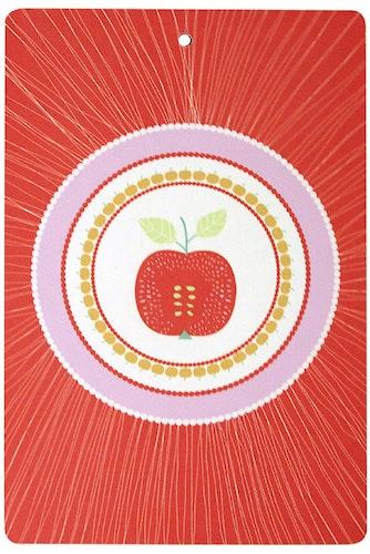 Skärbrädan Äpple röd