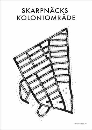 Affischen Skarpnäcks koloniområde