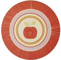 Grytunderlägget Äpple Röd