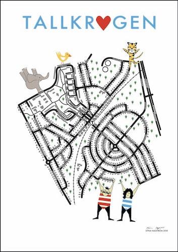 Barnkarta - Går även att beställa med annat område