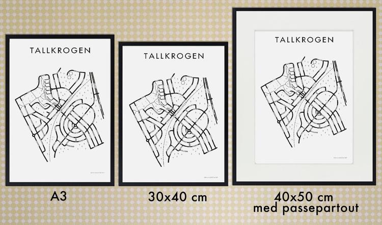 Affischen Tallkrogen - hela - utan hjärta