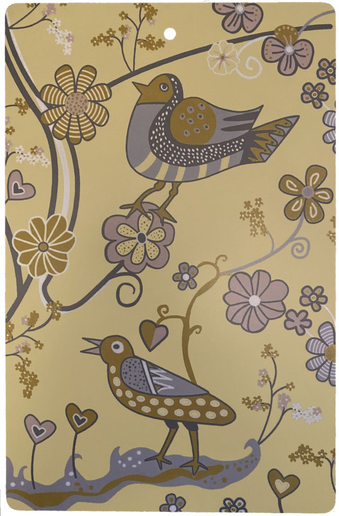 Skärbrädan Blomfåglar gul