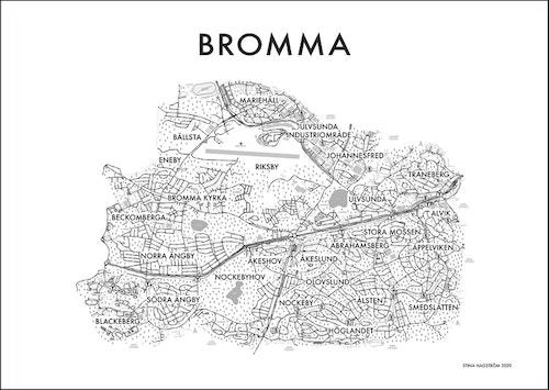 Affischen Bromma postort