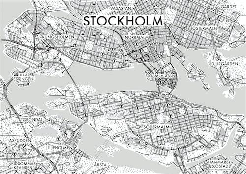 Affischen Stockholm - utfallande - ljus