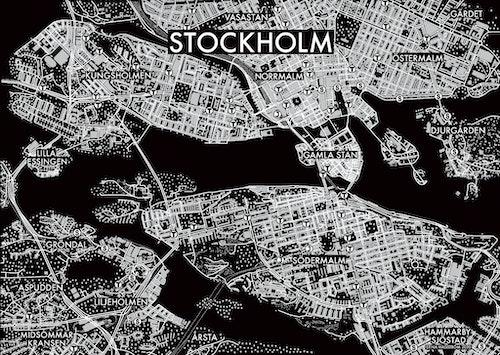 Affischen Stockholm - utfallande - svart