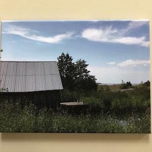 Sjöbod, Gräsö skärågård, stl 40x30 cm