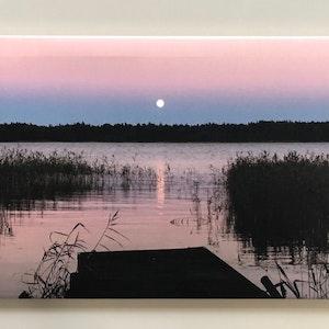 Månfokus, Foto på canvas, stl 60x40 cm