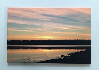 Sommarkväll, Foto på canvas, stl 60x40 cm
