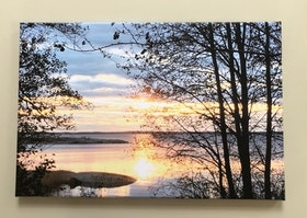 Magisk afton, Foto på canvas, stl 60x40 cm