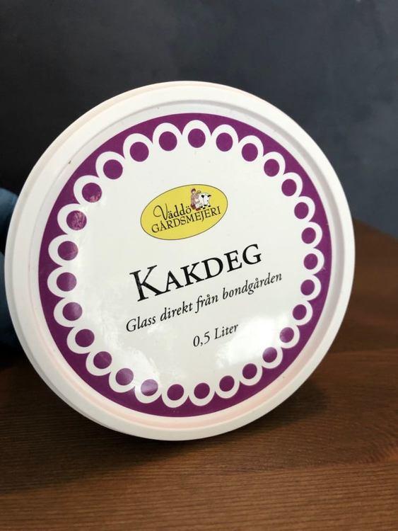 """Glass vanilj med kakdeg från """"Bondens Glasskalas"""""""