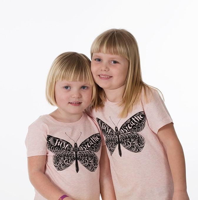 Barn t-shirt rosa