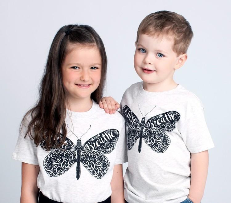 Barn t-shirt ljusgrå