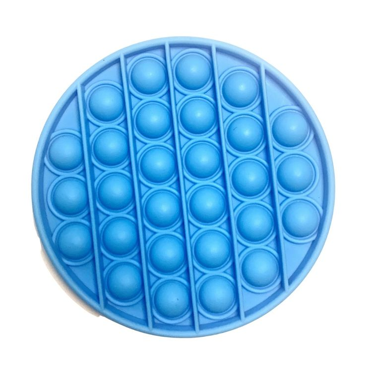 blå cirkel pop it leksak