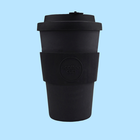 Ecoffee Cup Bamboo - Kerr & Napier Black 400ml