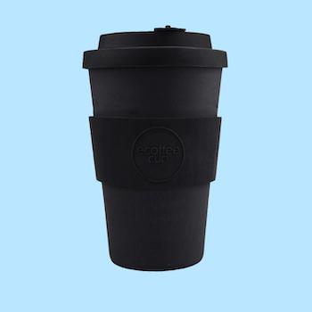 Ecoffee Cup Bamboo - Kerr & Napier Black 400ml