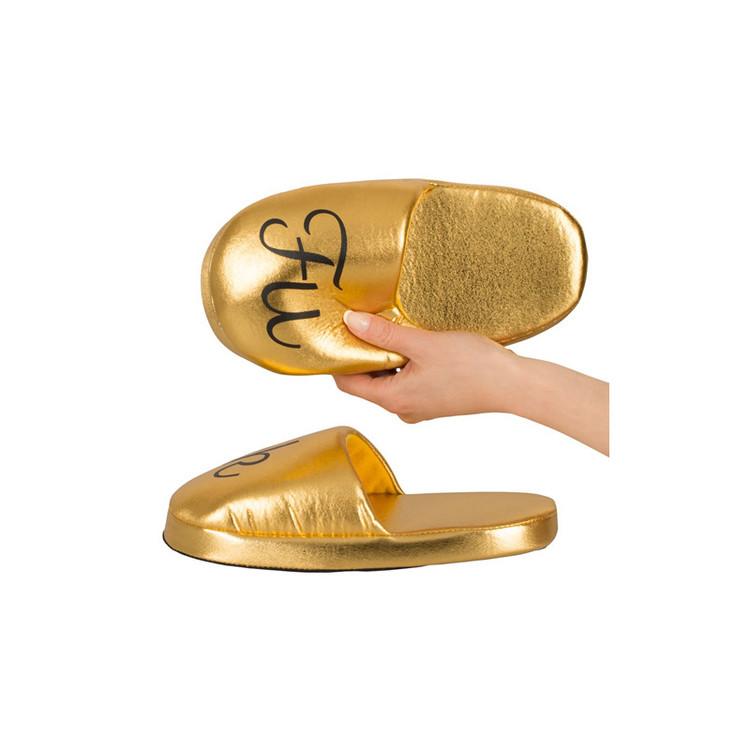 FUCK Tofflor - Guld