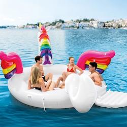Unicorn Party Island - Intex Uppblåsbar Enhörning