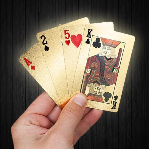 Spelkort - Kortlek i 24K Guldplätering