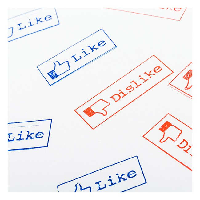 Facebook Like & Dislike Stämplar