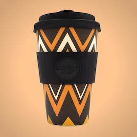 Ecoffee Cup Bamboo - ZigNZag 400 ml