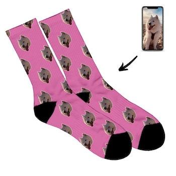 Personliga Strumpor - Face socks - Hund