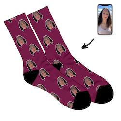 Personliga Strumpor - Face socks - Dam