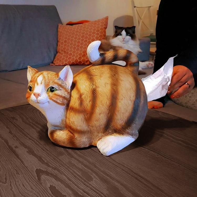 Katt pappershållare