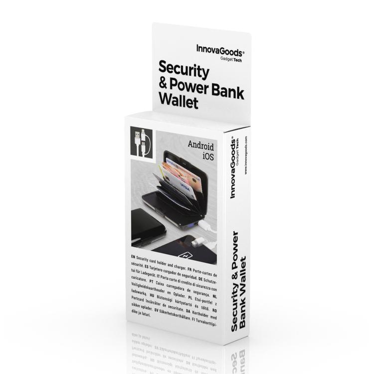 2-i-1 RFID-säker Korthållare och Powerbank