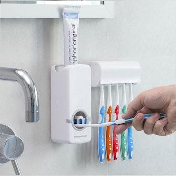 Tandkräm Dispenser med Tandborsthållare