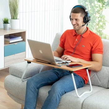 Hopfällbart Laptop-Sängbord Multifunktionellt