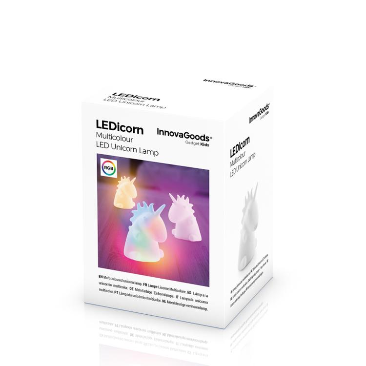LEDicorn Multicolor Enhörning Lampa