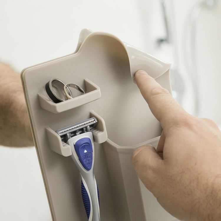Badrum Väggförvaring - Rakkniv & Tandbröste Hållare
