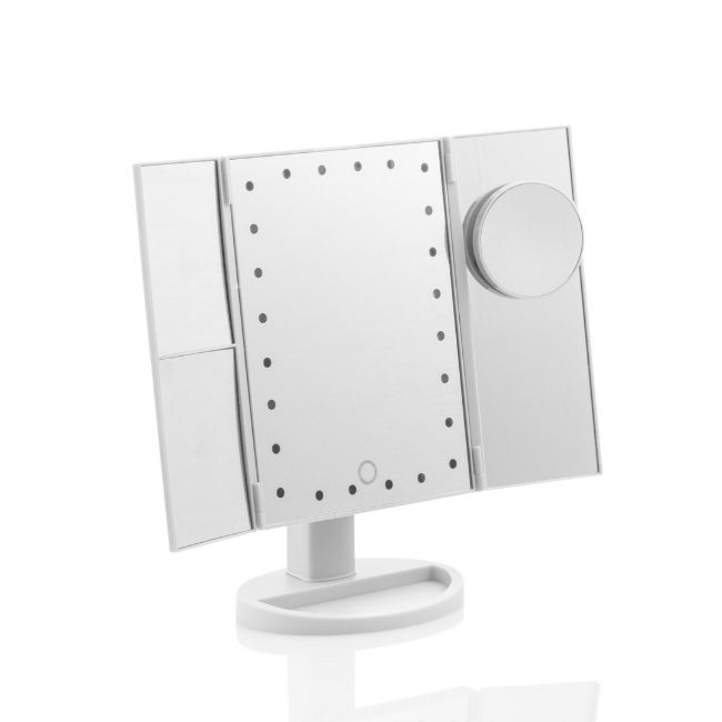 Sminkspegel med LED-belysning 4-i-1