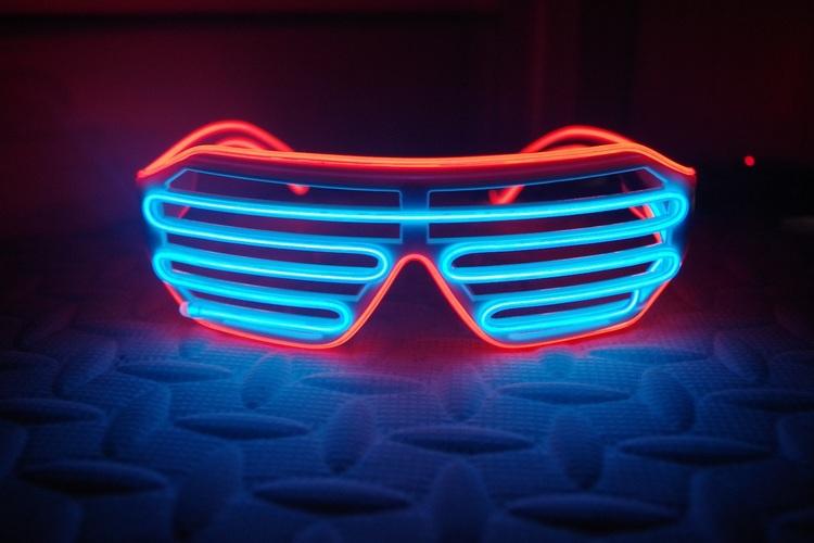 Neon Festglasögonen - 2 färger