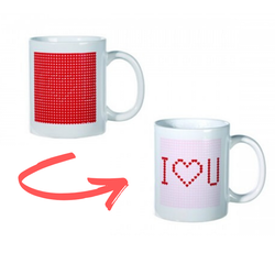 "Färgskiftande ""I love you"" Mugg"