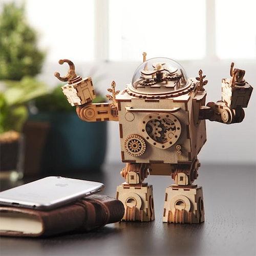 DIY Modelkit i Trä - Orpheus Robot Musiklåda