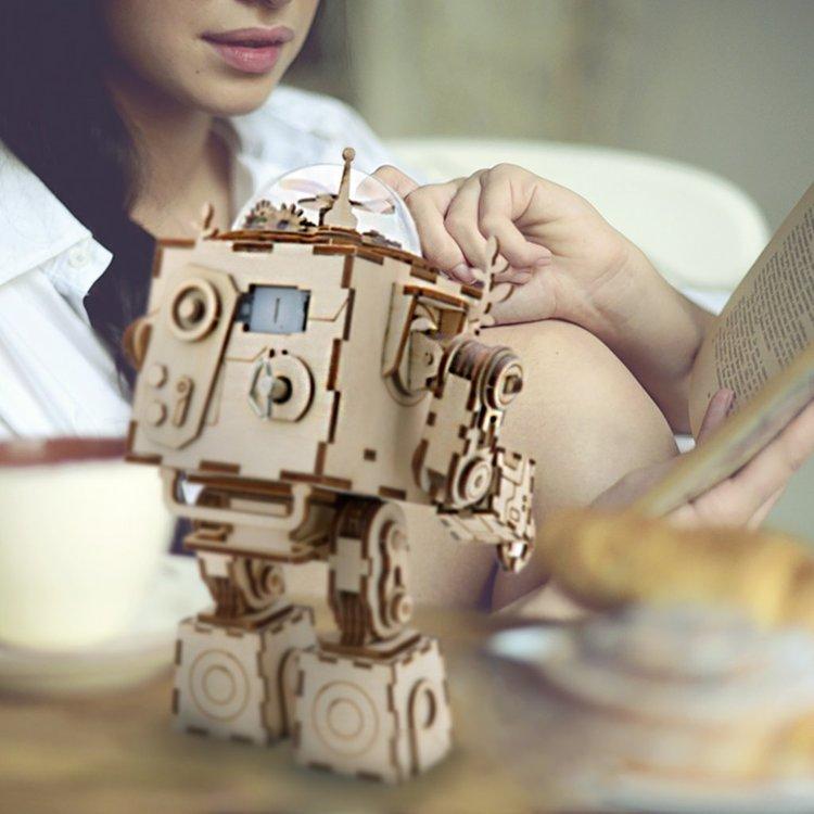 Trämodellkit robot musilåda