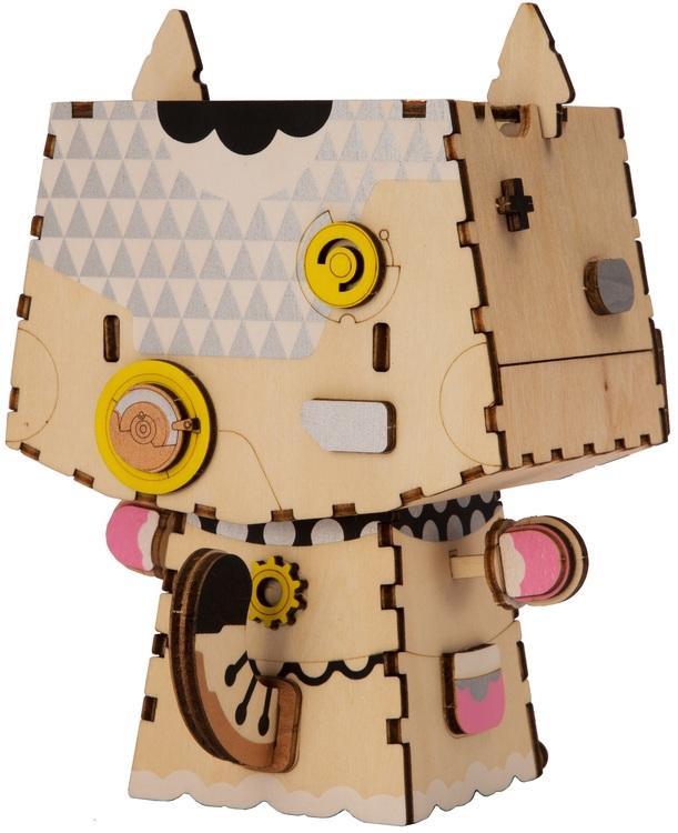 DIY Modelkit i trä - Kitty Blomkruka för Suckulenter