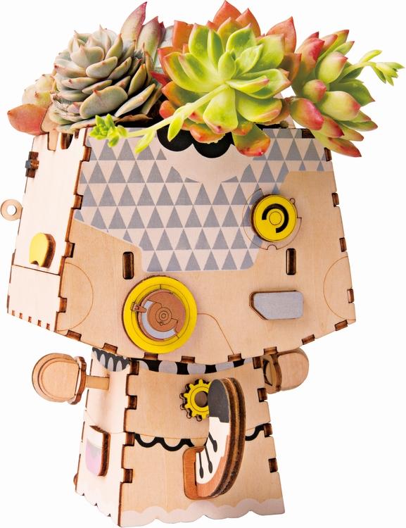 DIY Modelkit i trä -  Kitty Blomkruka