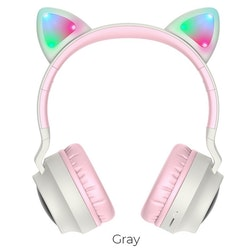 Kawaii Bluetooth Hörlurar med LED Kattöron