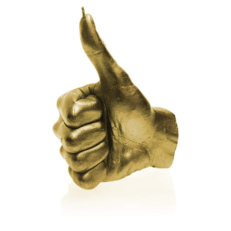 Hand Candle - Thumbs Up  - Guld