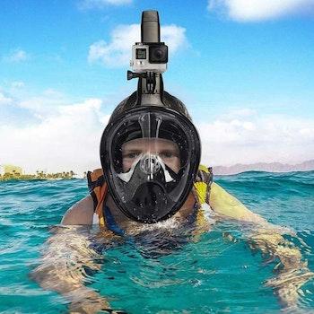 Snorkelmask med GoPro fäste