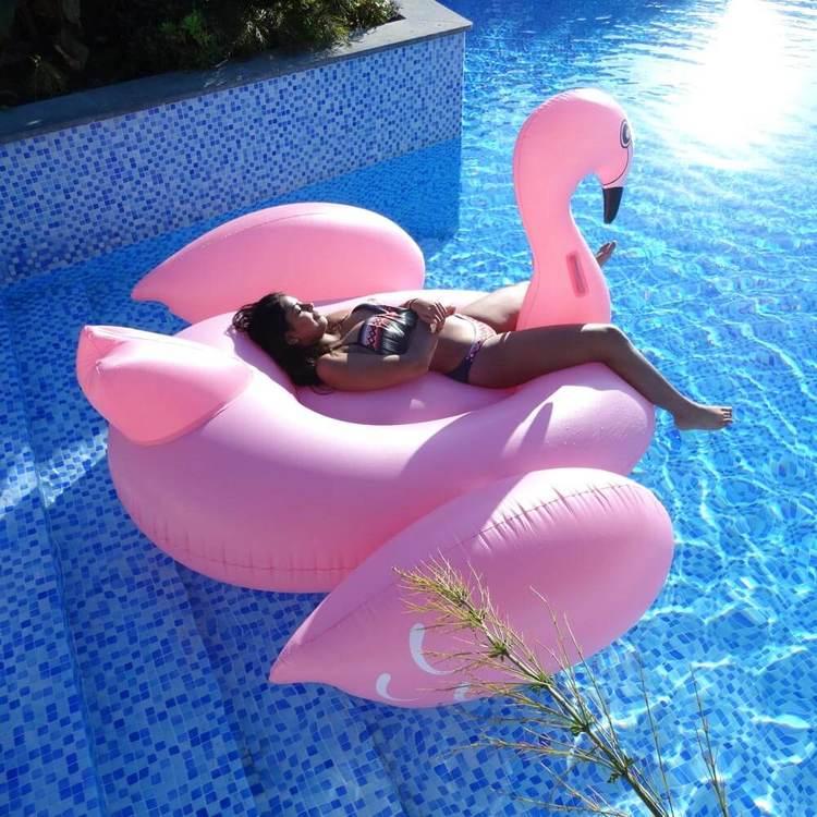 Uppblåsbara Flamingo