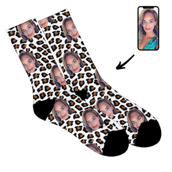 Leopard - Face Socks