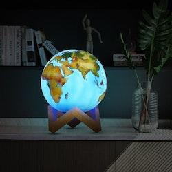 3D Jordglob Lampa