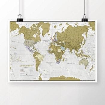 Scratch the World - Världskarta
