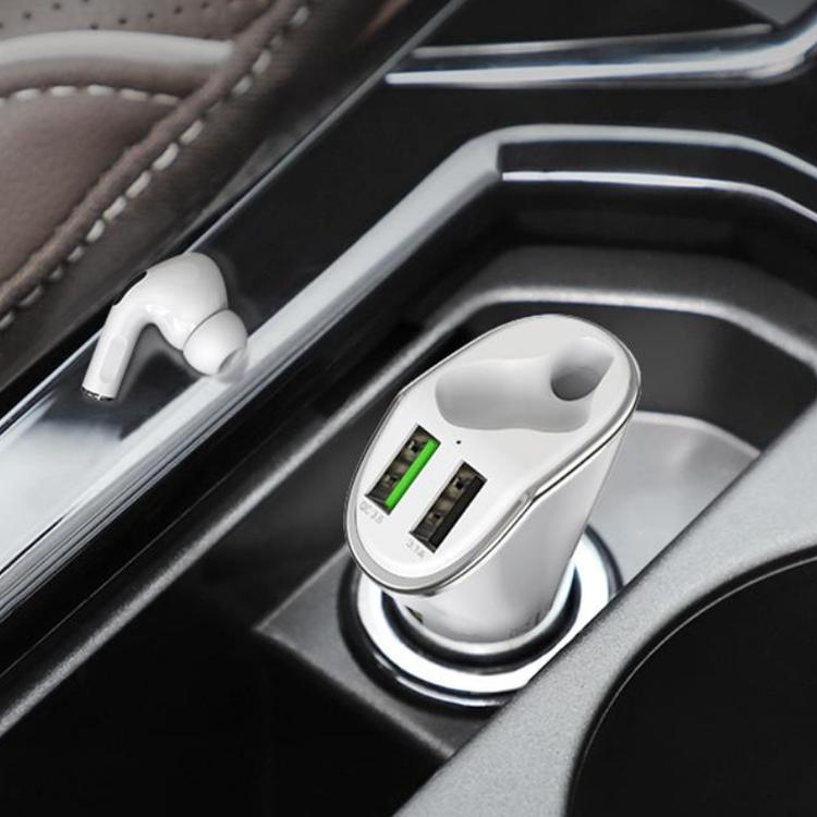 Dual laddare till bilen med Pro hörlurar