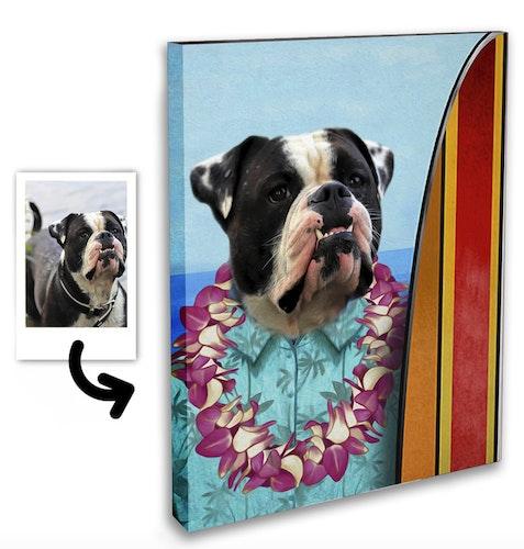 Personligt Djurporträtt - Surfare Canvas