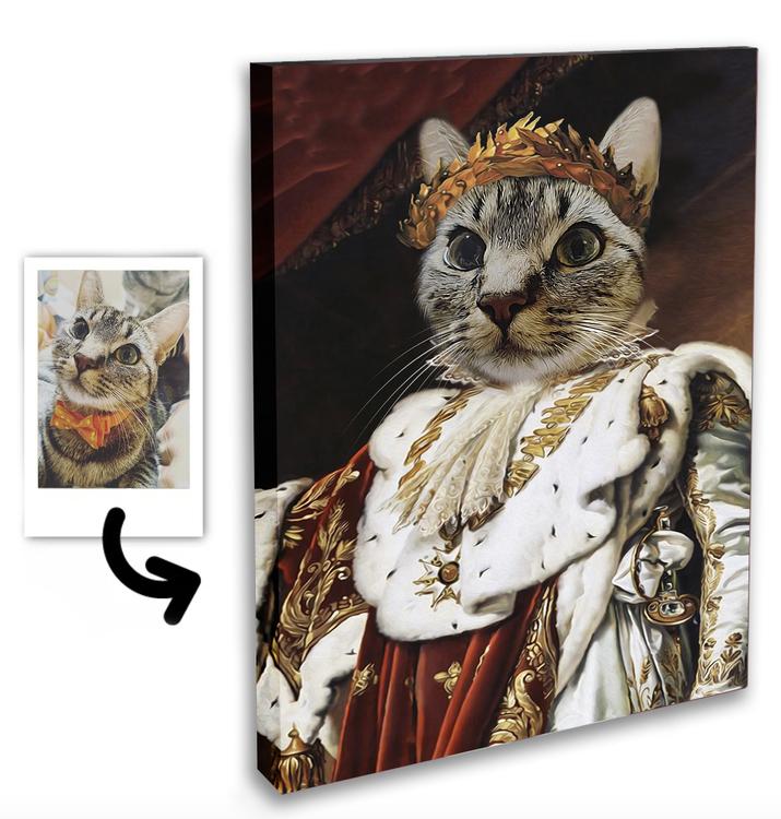 Personligt Djur Porträtt Canvastavla