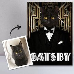 Personligt Djurporträtt - Catsby Canvas